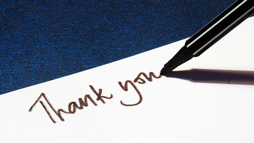 kindness, thank you note
