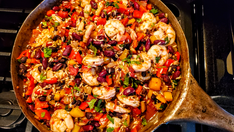 Mexican Inspired Shrimp and Rice