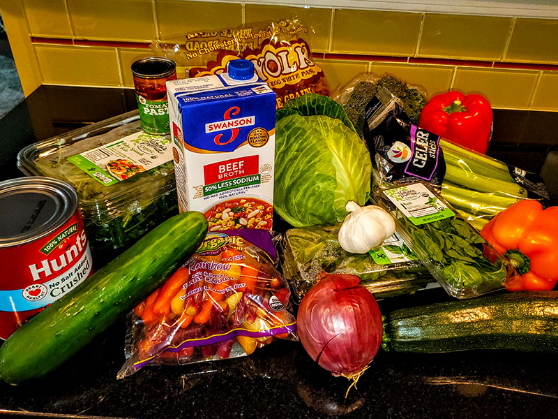 Hearty Healthy Vegetable Soup Ingredients