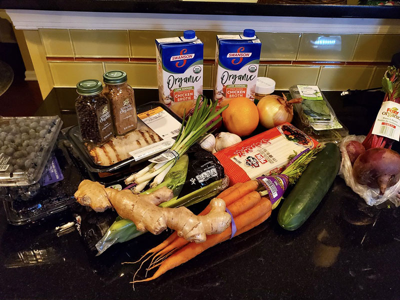 Turmeric Ginger Chicken Soup Ingredients